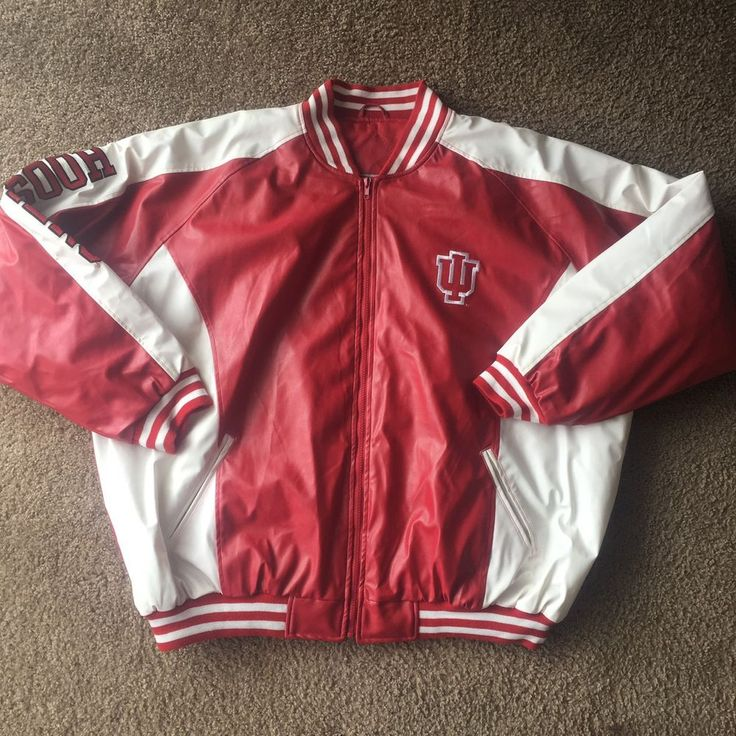 NWT Steve & Barry's 3XL IU INDIANA UNIVERSITY Faux Leather Jacket College