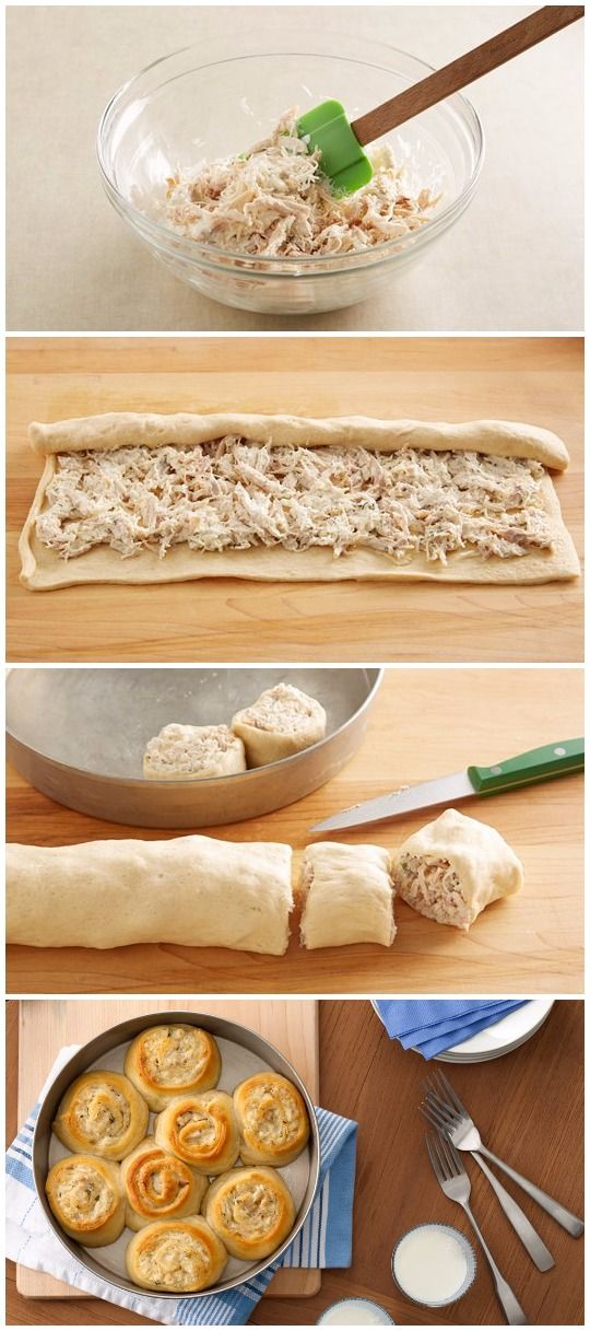 Ranch Chicken Rollup Bake Recipe Ingredients 2 cups shredded deli rotisserie chicken 1/2 cup ranch dressing 3/4 cup shredded Italian cheese blend (6 oz) 1 can (8 oz) Pillsbury™ refrigerated crescen…