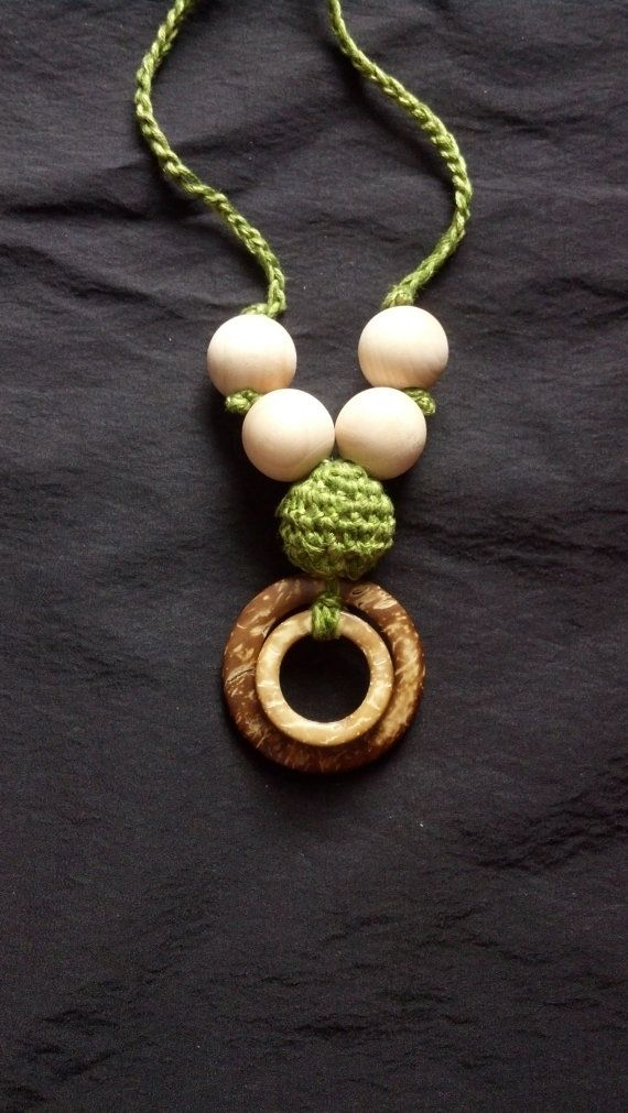 Nursing necklace Check out this item in my Etsy shop https://www.etsy.com/listing/180231554/100-natural-coconut-shell-crochet