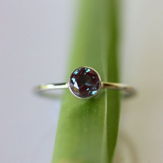 Alexandrite and White Gold Ring, $440 | 45 Engagement Rings That Don't Suck