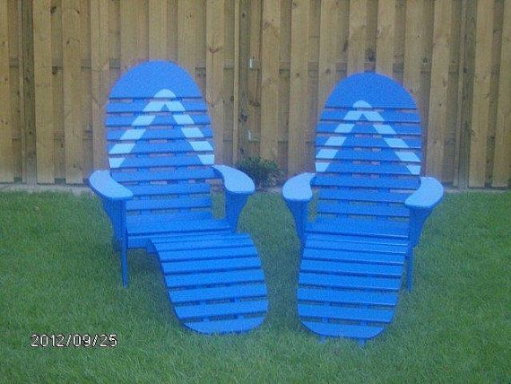 Custom Made Flip Flop Chair With Foot Rest Outdoor Style