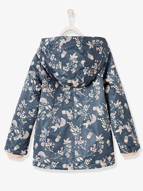 1899911c3de0 Raincoat with Fleece Lining for Girls - vertbaudet enfant