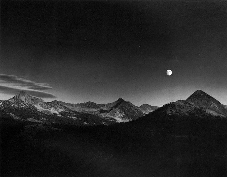Ansel Adams, Autumn Moon, the High Sierra from Glacier Point (1948)