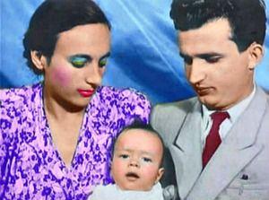 Nicolae, Elena & Valentin Ceausescu 1949