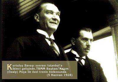 Atatürk ve Kazım Özalp (İstanbul 1928)