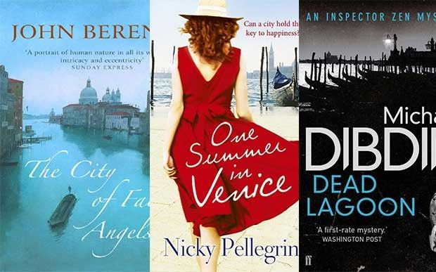 Off to VENICE in books. Explore the city through the eyes of authors listed on Waterstones Bookseller blog https://www.waterstones.com/blog/trip-fiction-books-set-in-venice