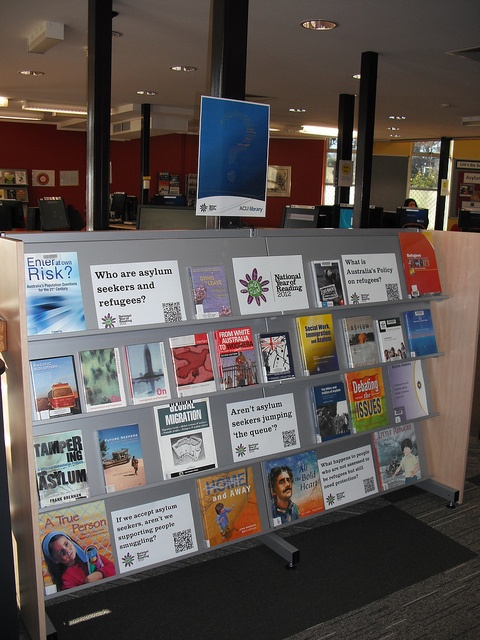 "NYR *Question"" display by Library ACU, via Flickr. Canberra Campus."
