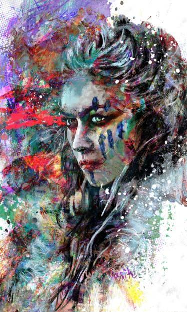 "Saatchi Art Artist yossi kotler; Painting, ""wolf warrior"" #art"