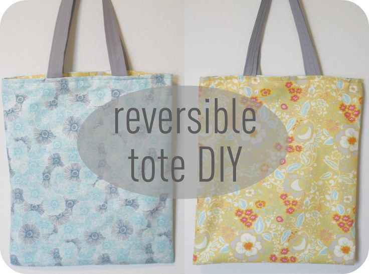 Reversible tote diy - What a great idea. You could make some with holiday fabrics and have special totes to go to the grocery store and carry your groceries home. Best things you only need 1finished bag for every 2 holidays. Oh, I found a way to use up some of the huge stash of fabrics I have for holidays. Sewing machine watch out. - Pam