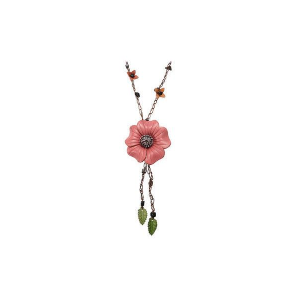 Ethnic Body Jewelry Leather Flower Tassel Long Necklace Waist chain... ($11) ❤ liked on Polyvore featuring jewelry, pink, body jewelry, blossom jewelry, body jewellery, body chain jewelry and tassel jewelry