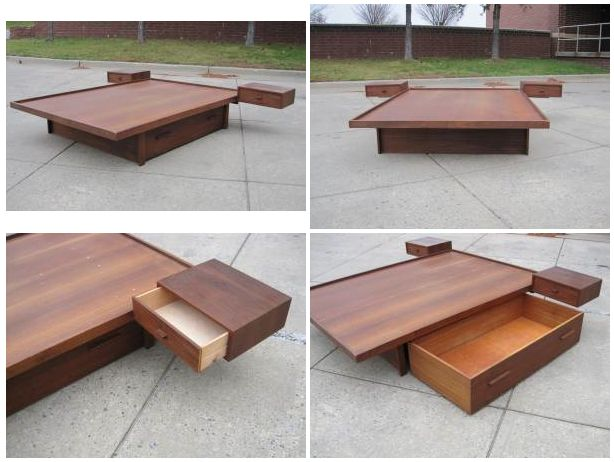 Listed District 850 Mid Century Platform Bed
