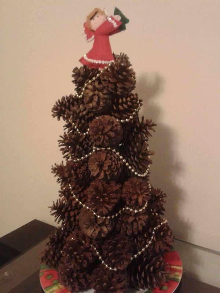 193 Rvore De Natal Com Pinhas Enfeites De Natal Com Pinhas