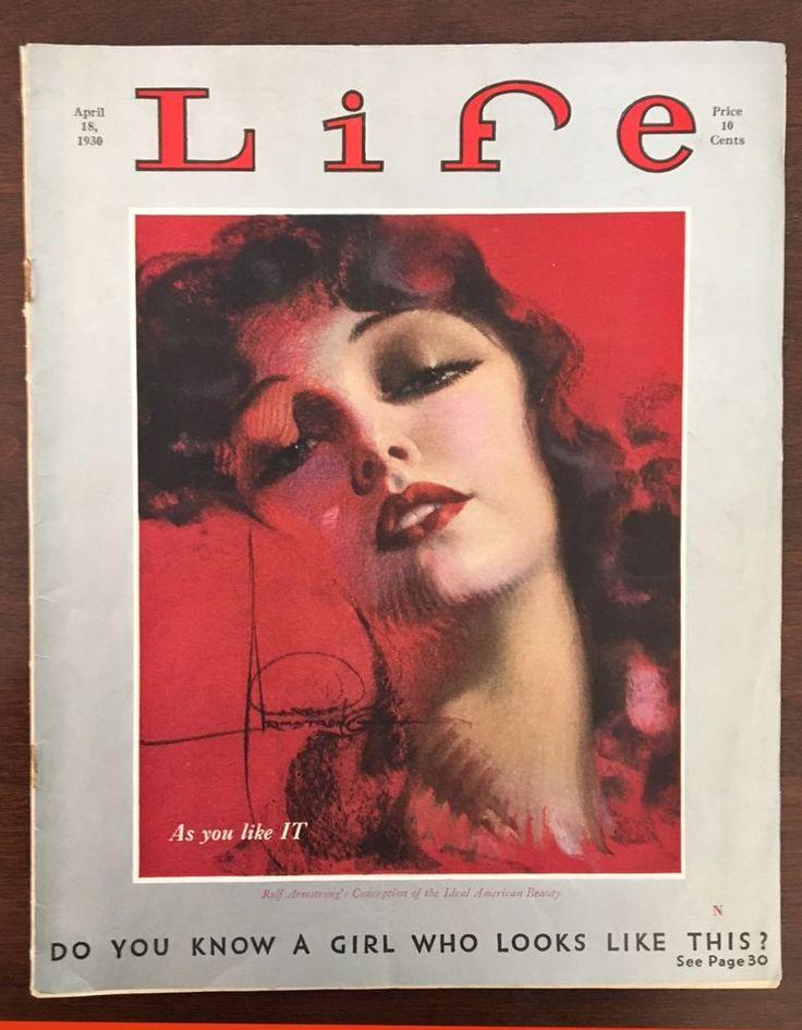 Life Magazine April 13, 1930 Rolf Armstrong cover art Dr. Seuss interior cartoon
