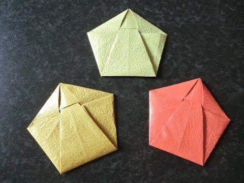 """折り紙 おりがみレターの折り方 How to Origami """"Letter"""""""