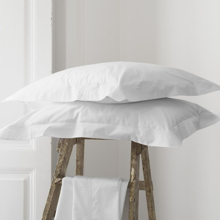 Simple, understated white pillowcases that go with anything.