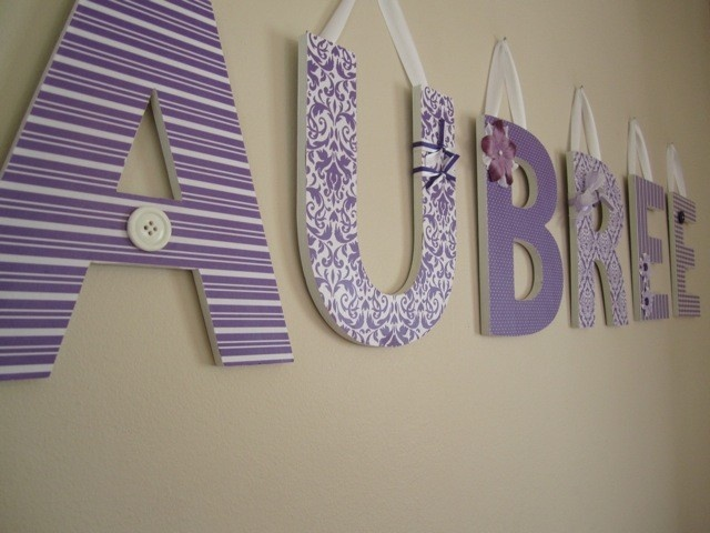 custom wall letters perfectly purple theme nursery letters wooden letters room decor 1000 via etsy if we have a girl baby names baby nursery