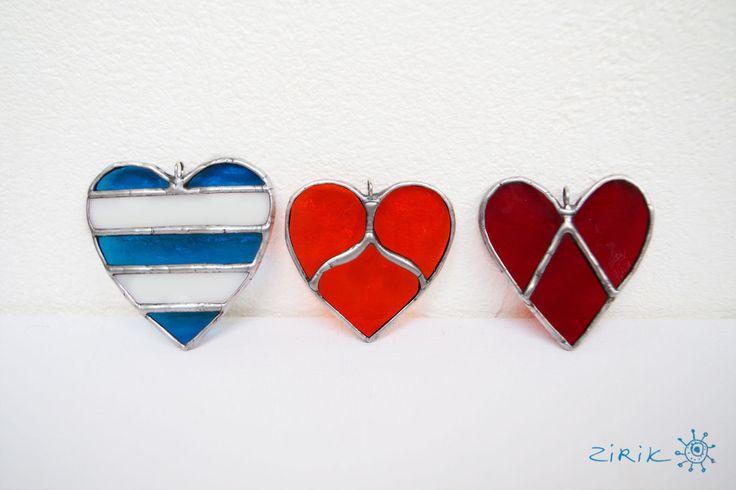 Купить Сердце моряка. Витражная подвеска - синий, голубой, белый, стеклянный, серебряный, Витраж, тиффани