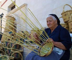Traditional Basket Maker in a Cyprus village