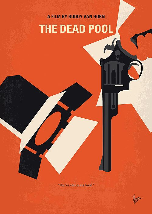 No1267-5 My Dirty Harry The Dead Pool minimal movie poster by Chungkong Art