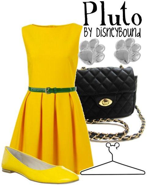 Pluto semi-formal girl's outfitPluto Inspiration, Yellow Dresses, Clothing, Disney Dreams, Disney Outfit, Inspiration Outfit, Disney Bound, Disney Dreamin, Disneybound Inspiration