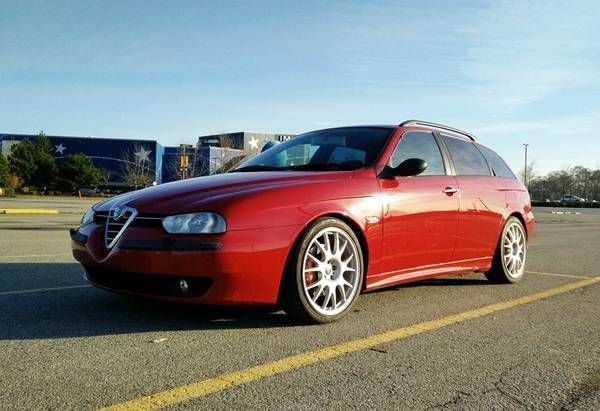 """This 2000 Alfa Romeo 156 Sportwagon wears what's arguably the best looking modern Alfa estate bodywork combined with a 2.5 liter, 24 valve version of the incredible Busso V6. Though saddled with the so-called """"Q-system"""" 4-speed automatic with manual, H-pattern manual mode, the seller"""