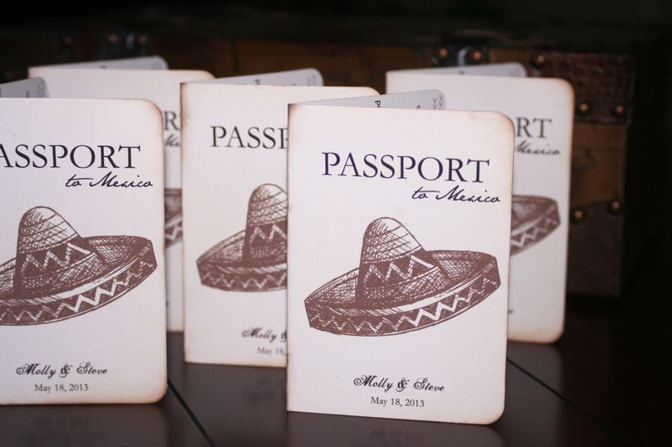 passport wedding invitations | Mexican Passport Wedding Invitations | Too Chic & Little Shab Design ...