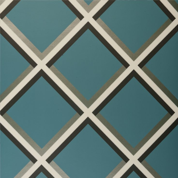 Pergola Grid Teal Wallpaper - W0018/06