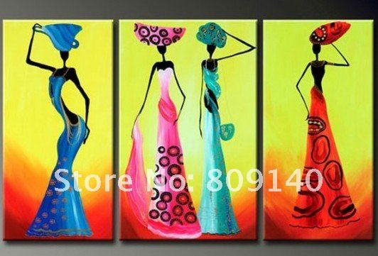 African Abstract Paintings On Canvas Oil Painting