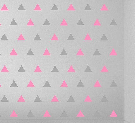 Self Adhesive Vinyl Triangle Stickers Vinyl Decals Are