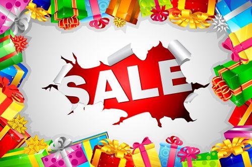 Christmas sale design elements vector