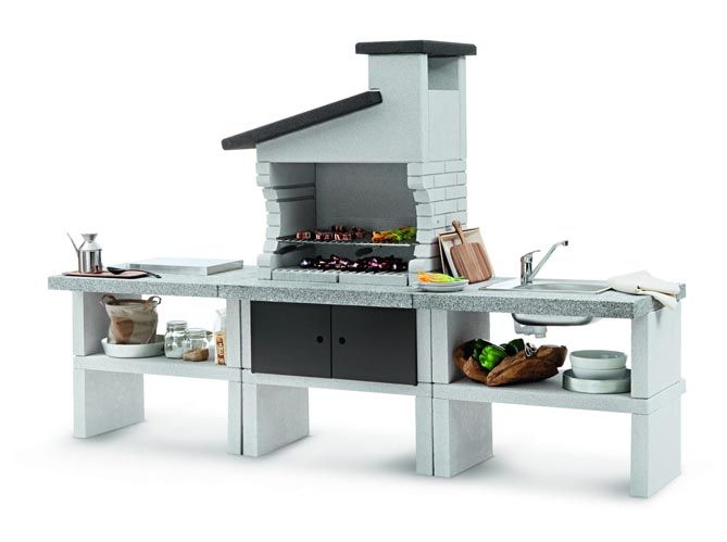68 best Barbecue images on Pinterest Decks, Houses with pools and - barbecue de jardin en brique
