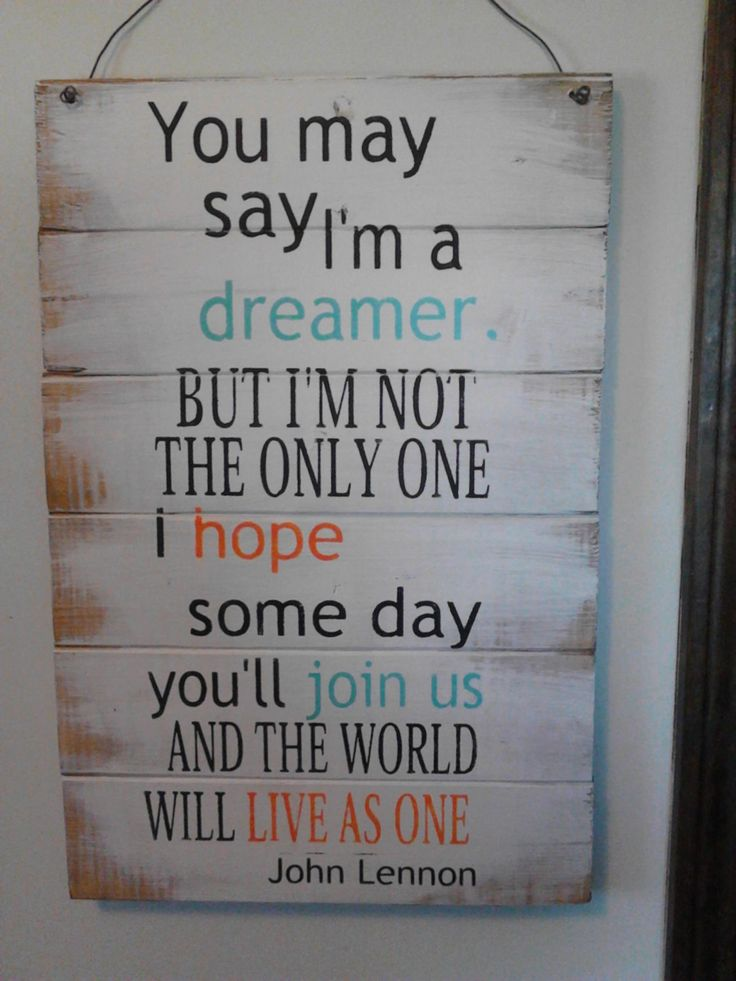 John Lennon quote You may say I'm a dreamer sign by OttCreatives, $27.00