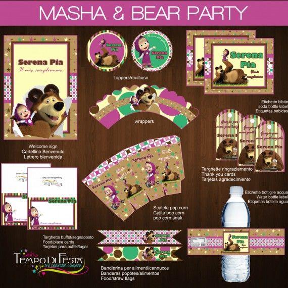 MASHA e ORSO PARTY festa da stampare