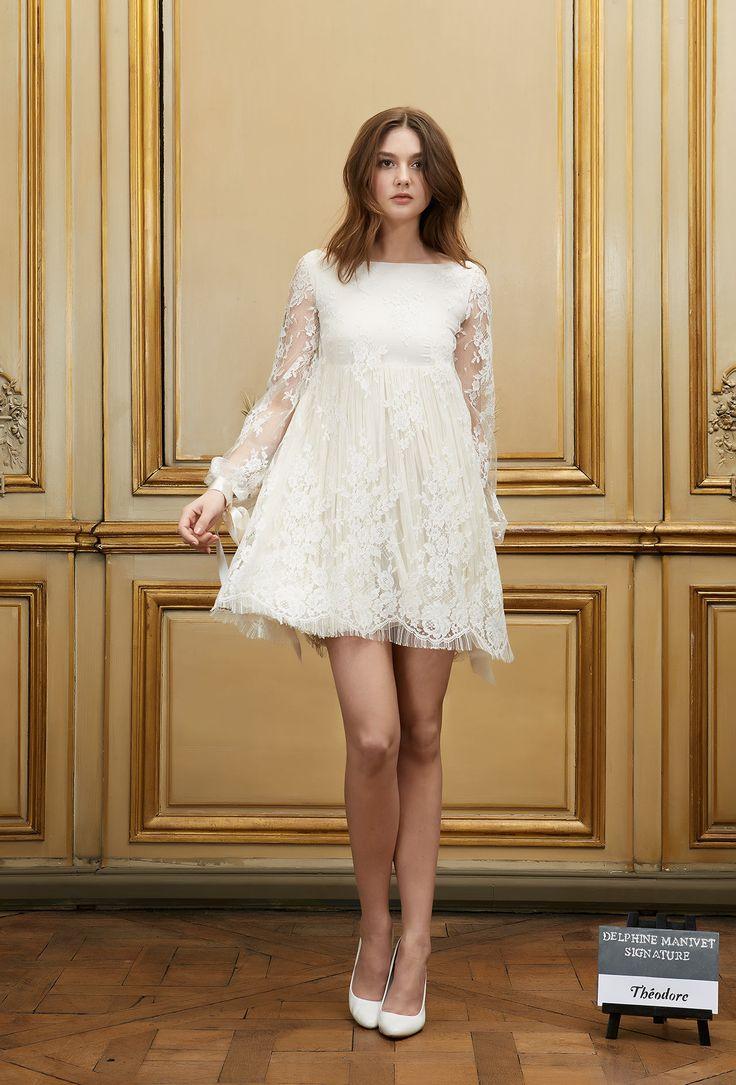Robe de mariée courte Théodore - Signature Collection - Robes de mariée - Delphine Manivet