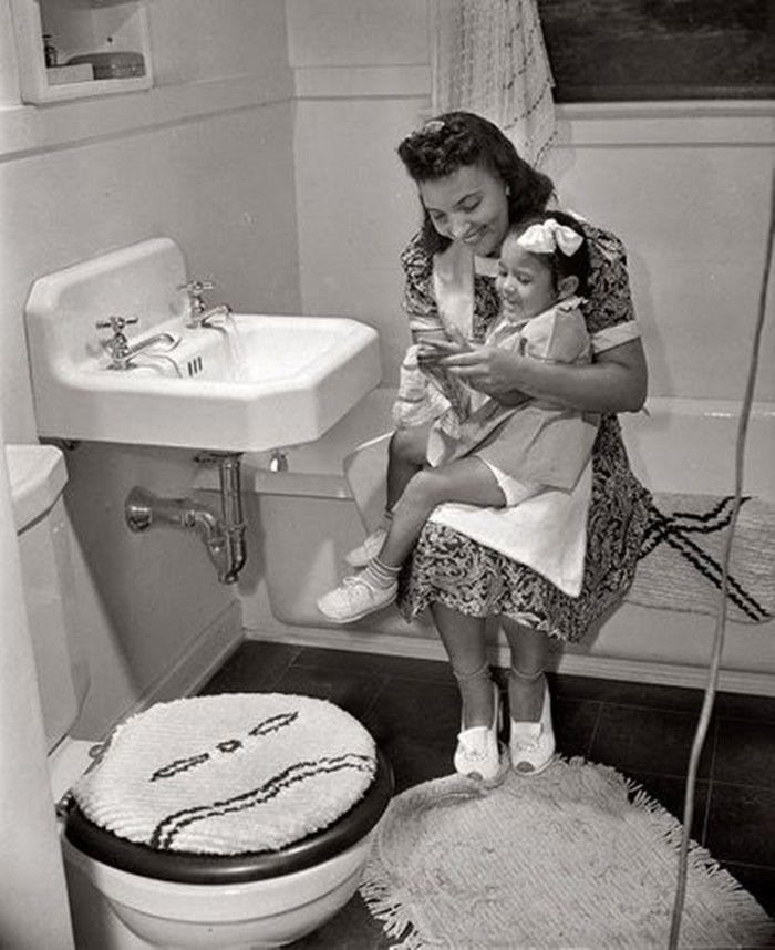 Fotografie storiche del bagno