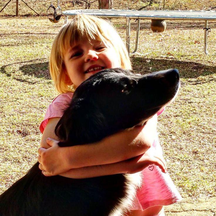 It looks like a throttle but it's not. Molly loves the hugs. #FarleyFarmGirls #FarleyFarmLife