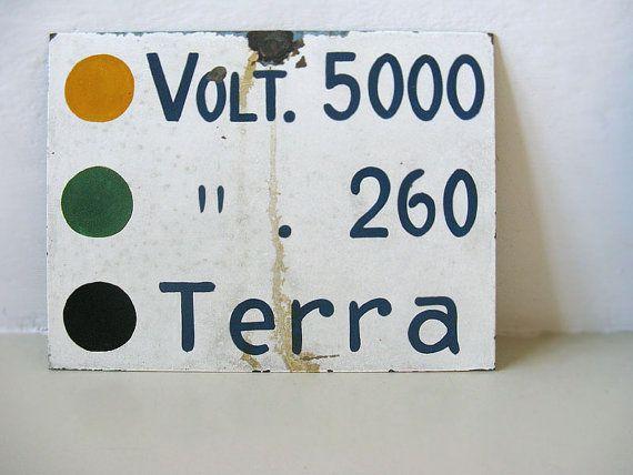Italian Metal Sign by uhlalalebrocantage on Etsy, €19.00