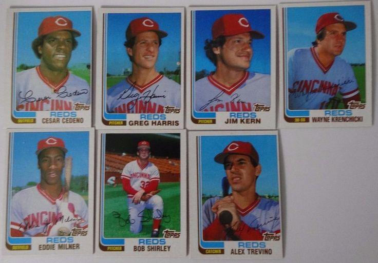 1982 Topps Traded Cincinnati Reds Team Set of 7 Baseball Cards #CincinnatiReds