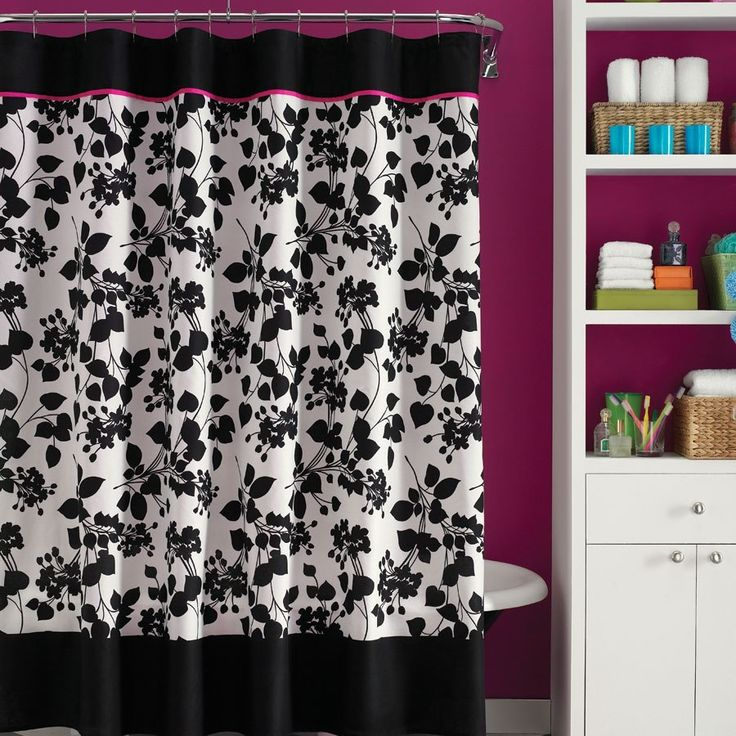 Best 25 Pink Shower Curtains Ideas On Pinterest Pink