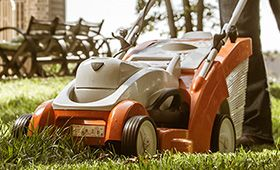 Stihl lithium-ion battery-powered Lawn Mower - no fumes or emissions