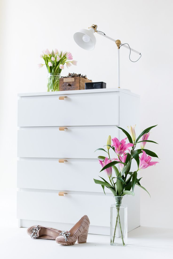 customize your malm with our diy leather handles in sistermag n 17 home decor mit diy. Black Bedroom Furniture Sets. Home Design Ideas