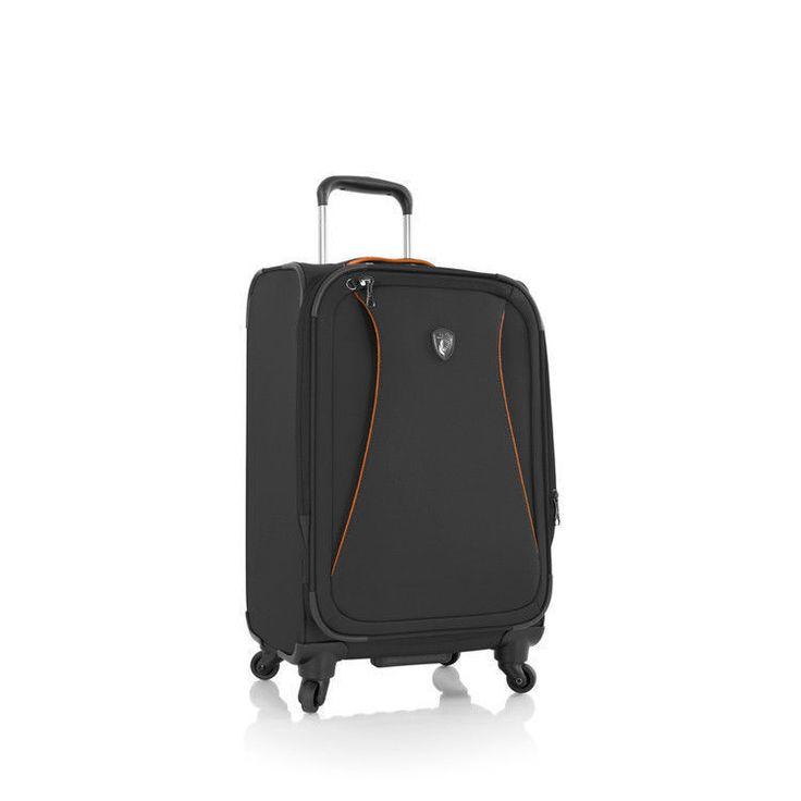 "Heys Helix Luggage 30"" Lightweight Suitcase Softside Spinner TSA Black"