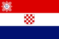 Flag of the Independent State of Croatia. They were a Nazi puppet state between 1941-1945.