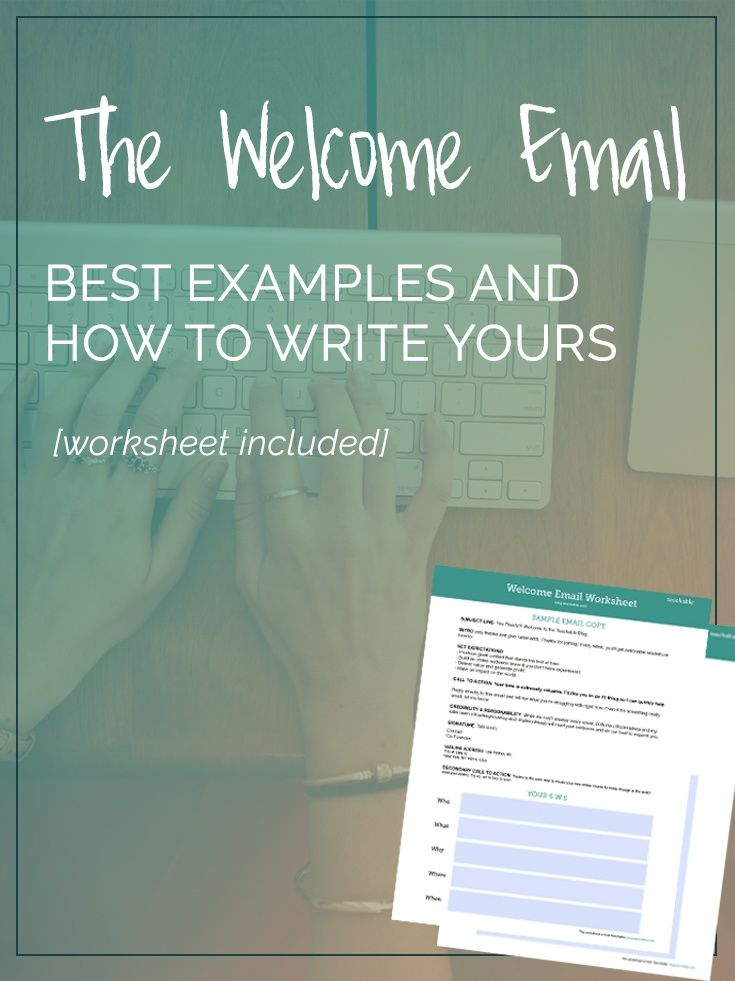 Welcome emails are one of the most impactful emails you'll ever send to your audience. Here's a breakdown of best examples and tips for how to write an engaging and effective intro to your new customer. Plus our free worksheet download. Check it out now!