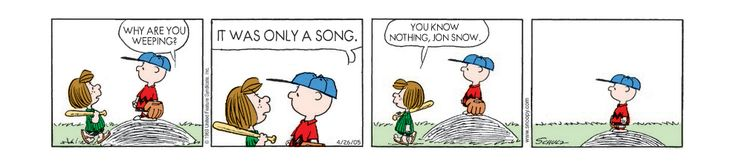 """If """"Game Of Thrones"""" Were Told By Charlie Brown And Snoopy"""