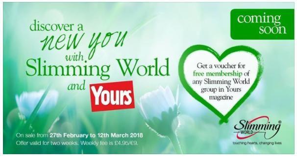 Slimming World voucher in Yours magazine