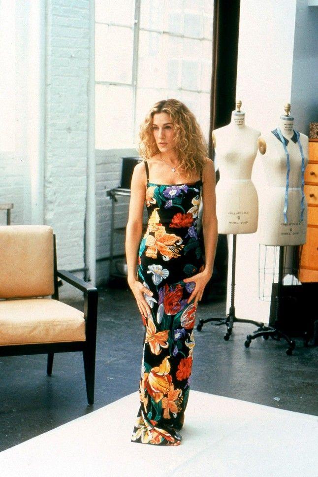 Carrie in Dolce & Gabbana.