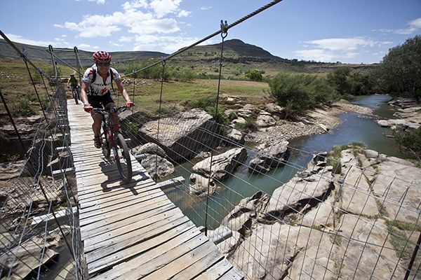 Crossing the Tinana river in No Man's Land