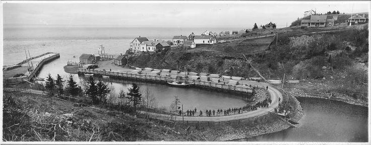 Halls Harbour , Bay of  Fundy, Kings County, Nova Scotia A.L. Hardy Collection