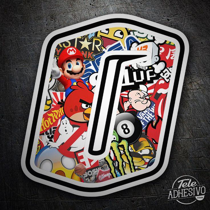Pegatinas: Número 0 Speed Stickerbomb #pegatinas #numero #adhesivo #decoracion #moto #coche #TeleAdhesivo